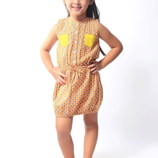 BASICS FOR KIDS GIRLS DRESS - YELLOW (G904369-G904379)