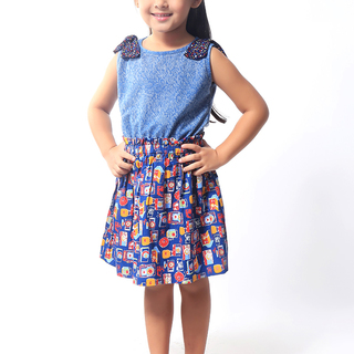 BASICS FOR KIDS GIRLS DRESS - BLUE (G904975-G904985)