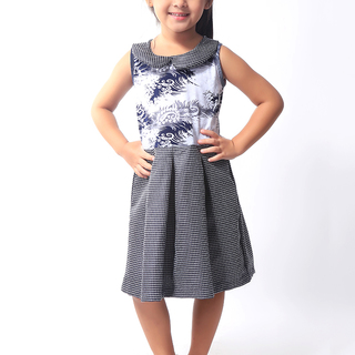 BASICS FOR KIDS GIRLS DRESS - BLACK (G904955-G904965)