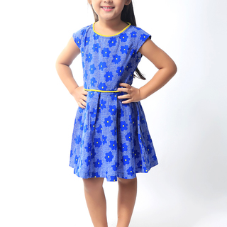 BASICS FOR KIDS GIRLS DRESS - BLUE (G904725-G904735)