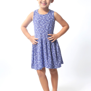 BASICS FOR KIDS GIRLS DRESS - BLUE (G904605-G904615)