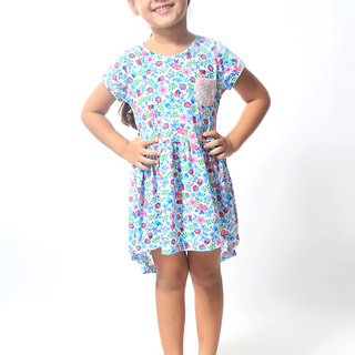 BASICS FOR KIDS GIRLS DRESS - BLUE (G904745-G904755)