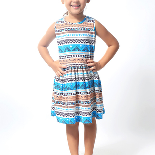 BASICS FOR KIDS GIRLS DRESS - BROWN (G904826-G904836)