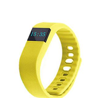 OLED Bluetooth Health Monitor Sports Bracelet - Yellow