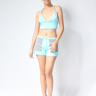 Mint Two-toned Neoprene Square Shorts (AW2015TNSS-Bk)