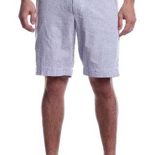 VINTAGE MEN'S WOVEN SHORTS WHITE AND BLUE (41708)