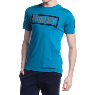 HURLEY MEN'S T-SHIRT ROUND NECK BLUE GREEN (46550)