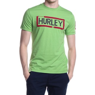 HURLEY MEN'S T-SHIRT ROUND NECK GREEN (46551)