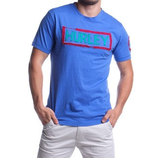 HURLEY MEN'S T-SHIRT ROUND NECK BLUE (46552)