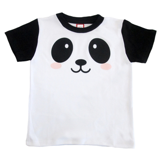 Bug & Kelly White and Black Panda Shirt