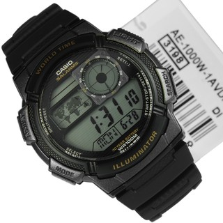 Casio Illuminator Men's Black Resin Strap Watch AE-1000W-1AVDF (Black)