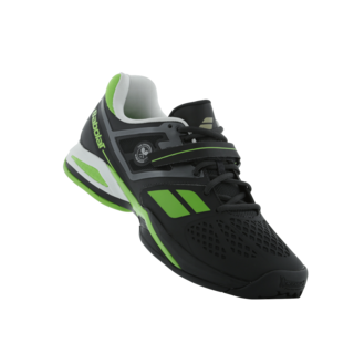 Babolat Propulse BPM All Court Wimbledon Tennis Shoes (Black and Green)