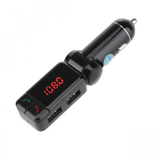 Bluetooth Car Charger with FM Transmitter - Black