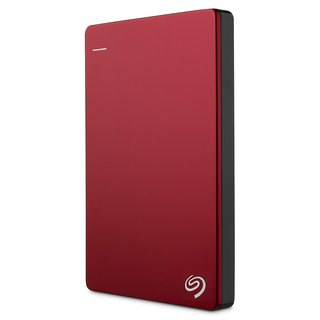Seagate Slim Back Up Plus 2TB External Hard Drive (Red)