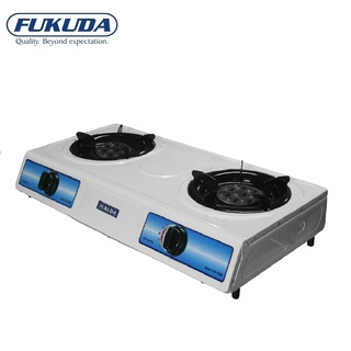 Fukuda White Coated Double Burner LPG Gas Stove FGS-700W