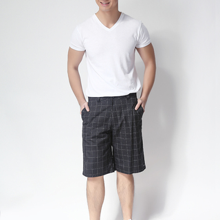 O'NIELL MEN'S WOVEN SHORT BLACK-WHITE (48596)