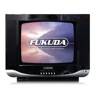 "Fukuda 14"" Semi-Flat Colored CRT TV FT-14ASNC1-1BC Black"