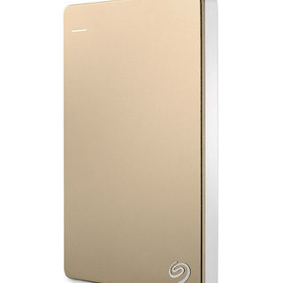 Seagate Slim Back Up Plus 2TB External Hard Drive (Gold)