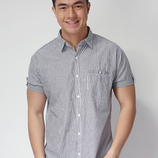 FRENCH CONNECTION SHORT SLEEVE WOVEN SHIRT GRAY (48762)