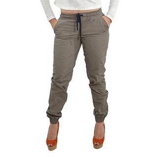 OWPH FEMALE DENIM JOGGER PANTS (DARK BROWN)