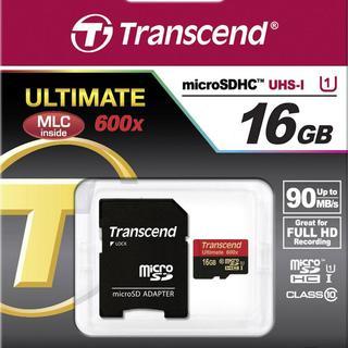 TRANSCEND ULTIMATE micro SDHC TF 16GB C10 600X
