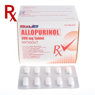 Allopurinol 300mg Tablet (10pcs) Rx