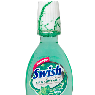 SWISH PEPPERMINT MOUTHWASH 120ML