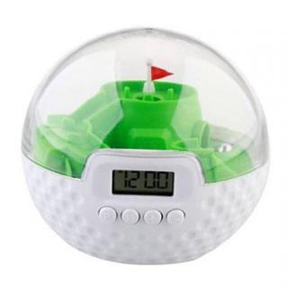 Digital 3D Golf Game Alarm Clock - Green