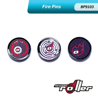 Nikidom Fire Button Pin Set of 3 BP9103