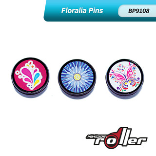 Nikidom Floralia Button Pin Set of 3 BP9108