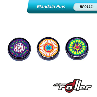 Nikidom Mandala Button Pin Set of 3 BP9111