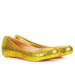 MELISSA ULTRAGIRL GLITTER FLATS GOLD (44277)