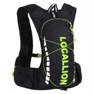 Local Lion Outdoor Backpack Vest Bag - Black/Green