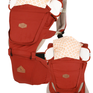 I-ANGEL RAINBOW INTERCHANGEABLE BABY CARRIER+HIPSEAT CARRIER  (ORANGE)