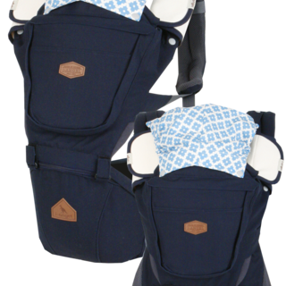 I-ANGEL RAINBOW INTERCHANGEABLE BABY CARRIER+HIPSEAT CARRIER  (NAVY)