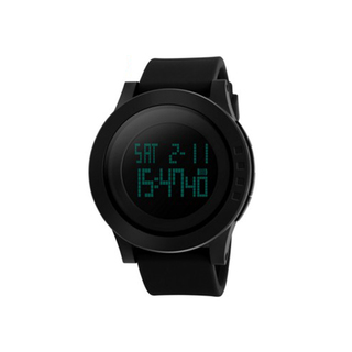 SKMEI Waterproof Digital LCD Sports Watch - Black