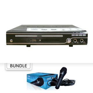 (Bundle) 2.1 Channel Midi DVD Karaoke Player with 99,000 Songs with Free Professional Dynamic Microphone DMD-225K - FMP-72K