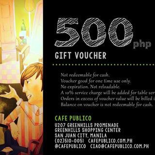 Café Publico 500php Gift Certificate