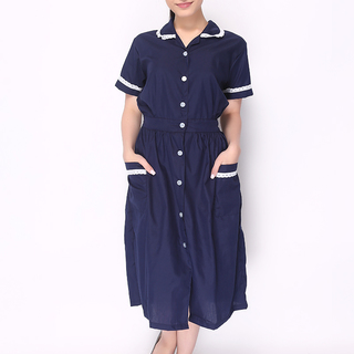 DRESS MAIDS UNIFORM WITH WHITE LACE (NAVY BLUE)