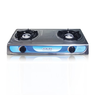 Fukuda Stainless Double Burner LPG Gas Stove FGS-710S (Silver)