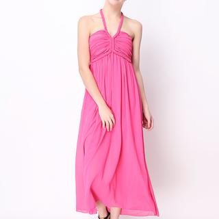 ANGELFISH PINK MAXI DRESS-CHIFFON (0962)
