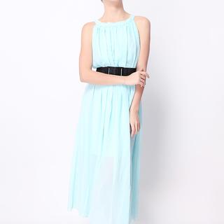 ANGELFISH LIGHT BLUE MAXI DRESS-CHIFFON (0963)