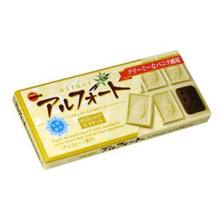 Bourbon Alfort Choco Vanilla White Wafers 53g - 4901360314966 (2519038)