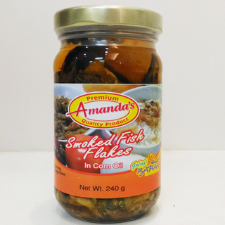 Amanda's Smoked flakes in Oil - 8 oz.