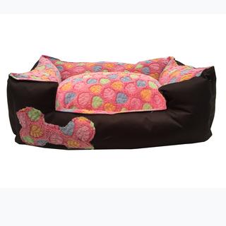 Pet Depot Softest Dog Bed Ever in Pink Leaves