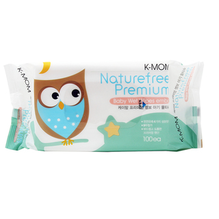 K-MOM Natural Pureness Premium Baby Wipes with Sticker 100s (Set of 10)
