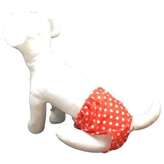 Pet Depot Red Polka Dots Dog Panty