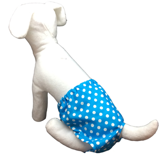 Pet Depot Aqua Polka Dots Dog Panty