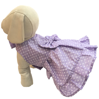 Pet Depot Hearts Purple Dog Sundress