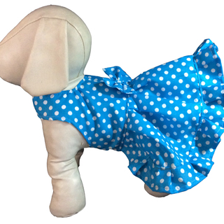 Pet Depot Aqua Polka Dots Dog Sundress